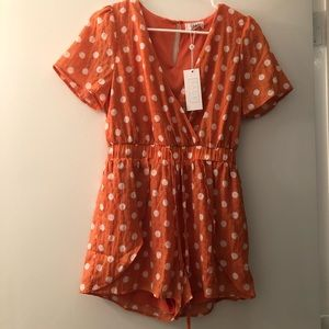 Red Dress Boutique romper, NWT, Size S